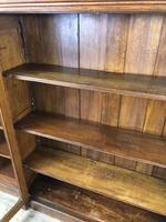 19th Century Antique Oak Breakfront Glazed Bookcase (5 of 15)