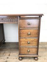 Early 20th Century Oak Kneehole Desk (5 of 14)