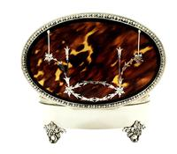 "Sterling Silver & Tortoiseshell 5"" Trinket Box - Mappin & Webb 1931 (7 of 10)"