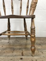 Antique Beech Spindle Back Smoker's Bow Chair (2 of 8)