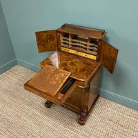 Spectacular Quality Victorian Figured Walnut Antique Davenport (7 of 9)