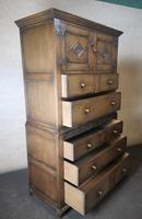 Carved Oak Millinery Cupboard / Tallboy / Press (10 of 11)