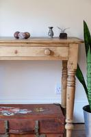 19th Century Pine Hall Table with Single Long Drawer (2 of 19)