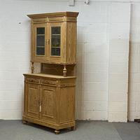 Very Tall Antique Pine Partly Glazed Dresser (5 of 8)