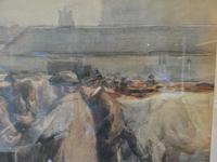 """Cattle Mart"" Watercolour by John Atkinson (7 of 8)"