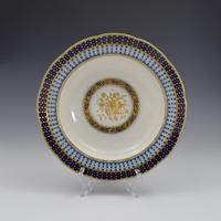 18th Century Sevres Porcelain Sauciere A Deux Sauceboat & Plate Pois Bleu 1788 (18 of 20)
