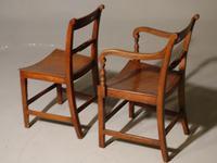 Good & Original Set of Six '4+2' Mid 19th Century Walnut & Oak Chairs (4 of 6)