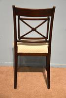 Elegant Single Regency Period Mahogany Side Chair (4 of 7)