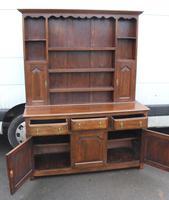 1920's Large Oak Dresser with display rack (4 of 5)