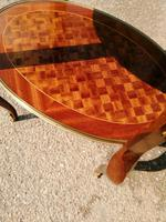 French Parquetry Occasional / Lamp Table (2 of 9)