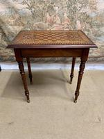 19th Century Games / Occasional Table with Inlaid Top