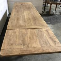 Bleached Oak Farmhouse Dining Table with Extensions (15 of 16)