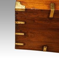 Victorian brass bound teak military chest (3 of 7)