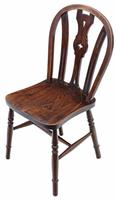 Set of 4 Elm & Beech Kitchen Dining Chairs c.1900 (4 of 7)