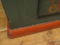 Antique Painted Swedish Cupboard with Vintage Saucy Lady Photos to the Interior (6 of 17)