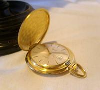Vintage Swiss Oriosa Pocket Watch 1970s 12ct Gold Plated Full Hunter Quartz Fwo (2 of 11)