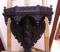 Burmese Carved Wall Bracket Hardwood 1860 (free Shipping to Mainland England) (9 of 12)
