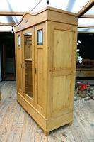 Fabulous Old Pine Triple 'Knock Down' Arts & Crafts Wardrobe (5 of 11)