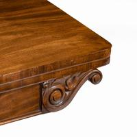 Companion Pair of William IV Flame Mahogany Card Tables (6 of 13)
