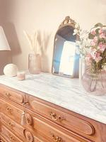 French Vintage Chest of Drawers / Antique Style Washstand / Marble Chest (3 of 9)