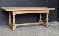 French Bleached Oak Farmhouse Kitchen Table (3 of 25)
