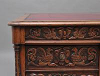 19th Century Carved Oak Partners Desk (16 of 17)