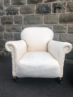 Pair of antique English armchairs for recovering (2 of 9)