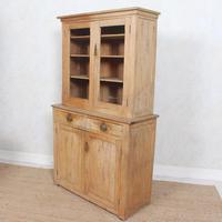 Arts & Crafts Pine Glazed Bookcase School Display Cabinet Dresser (9 of 12)