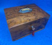Walnut Jewellery Box c.1900 (8 of 14)