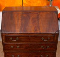 Edwardian Mahogany Bureau Writing Desk (4 of 9)