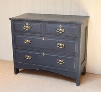 Pitch Pine Painted Chest of Drawers (3 of 11)