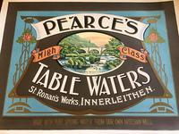 Advertisement for Pearce's  High Class Table Water c.1900 (2 of 3)