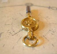 Antique Pocket Watch Chain Fob 1890s Victorian Brass Key Size 9 (9 of 10)