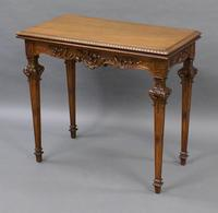 An American, Carved Walnut Card Table (3 of 6)