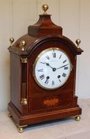 Mahogany & Inlay Bracket Clock (4 of 11)