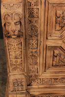 Carved Raw Oak Glazed Bookcase (16 of 21)