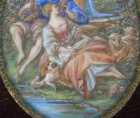 Beautiful Miniature Painting after Boucher Courting Couple (3 of 5)