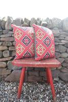 Early 20th Century, Antique Swedish Woven Textile, Geometric Patterned 're-stuffed cushions' (2 of 20)