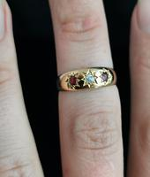 Antique Ruby & Diamond Gypsy Set Ring, 18ct Yellow Gold (10 of 10)