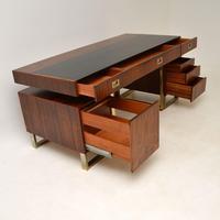 Rosewood & Brass Vintage Partners Desk (11 of 16)