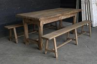 Normandy Oak Farmhouse Table & Bench Set (13 of 19)