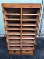 Antique Oak Double Filing Cabinet (8 of 10)