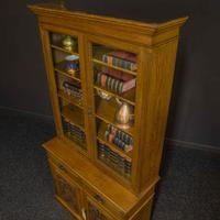 Edwardian Oak Bookcase (4 of 6)