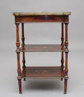 19th Century Mahogany & Inlaid Three Tier Etagere Table (7 of 11)