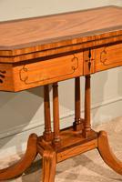 George III Satinwood, Rosewood & Ebony Inlaid Card Table (3 of 10)