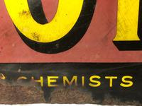 Large Rare Medicine Chemist Stotherts Atherton Chest & Lung Mixture Enamel Sign (4 of 21)