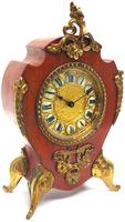 Antique French Mahogany & Ormolu Boulle Mantel Clock Shield Boulle Case. (7 of 7)