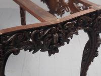 Victorian French Carved Fruitwood & Marble Top Console Table (15 of 19)