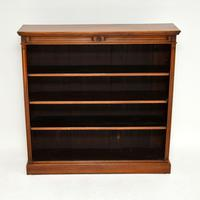 Antique Victorian Walnut Open Bookcase (2 of 11)