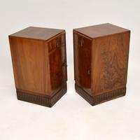 Pair of Art Deco Burr Walnut Bedside Cabinets (11 of 12)